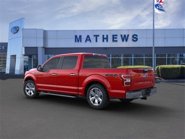 2020 Rapid Red Metallic Tinted Clearcoat Ford F-150 LARIAT 2.7L 6-Cylinder Engine 4 Door Truck