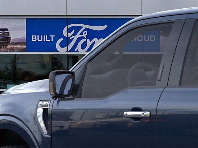 2021 Blue Ford F-150 XLT 4 Door 2.7L V6 EcoBoost Engine Automatic