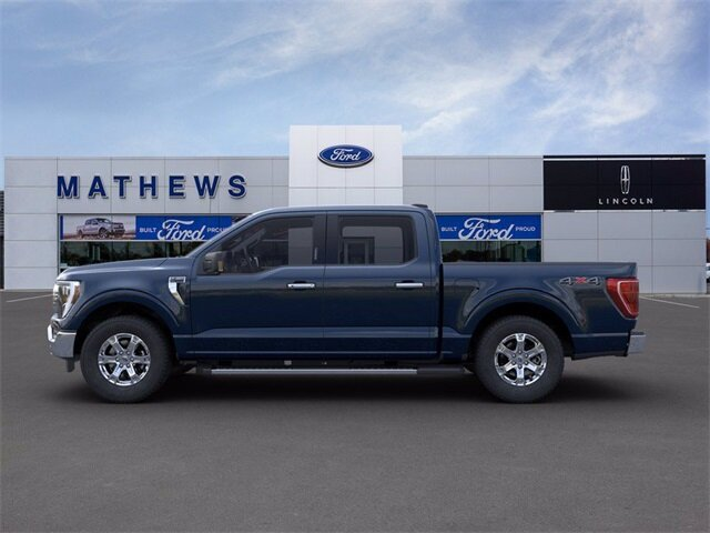 2021 Blue Ford F-150 XLT 2.7L V6 EcoBoost Engine Truck 4 Door 4X4 Automatic