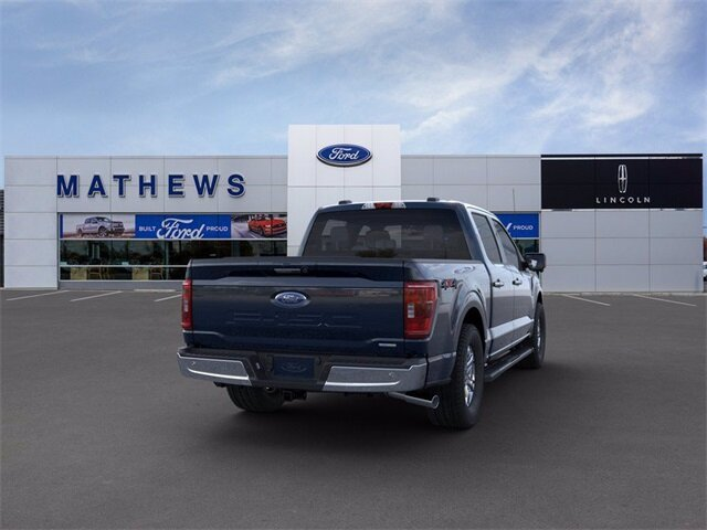 2021 Blue Ford F-150 XLT 2.7L V6 EcoBoost Engine 4 Door Truck 4X4 Automatic
