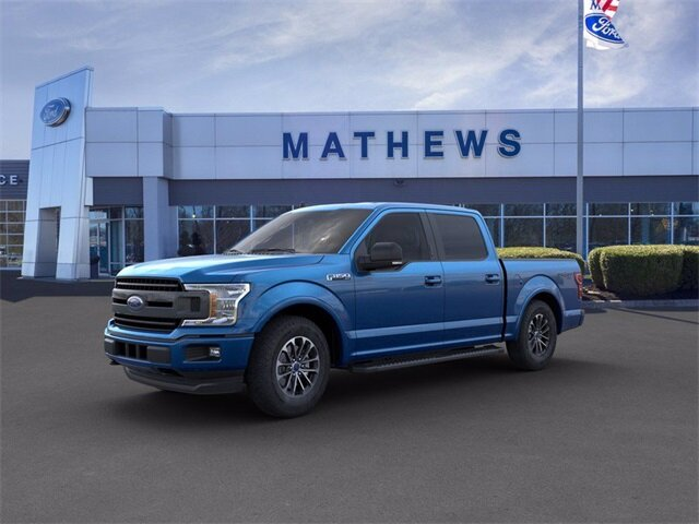 2020 Blue Ford F-150 LARIAT 2.7 L 6-Cylinder Engine Automatic 4X4