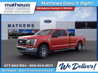2021 Red Ford F-150 XLT 4 Door Automatic RWD 2.7L V6 EcoBoost Engine