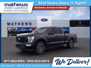 2021 Agate Black Metallic Ford F-150 XL 4 Door Truck 2.7L V6 EcoBoost Engine Automatic 4X4