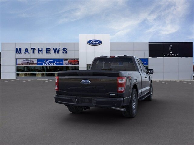 2021 Agate Black Metallic Ford F-150 XL Automatic 4X4 Truck 2.7L V6 EcoBoost Engine 4 Door