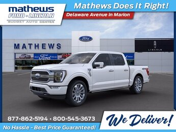 2021 Star White Metallic Tri-Coat Ford F-150 Limited Automatic 4 Door Truck EcoBoost 3.5L V6 GTDi DOHC 24V Twin Turbocharged Engine