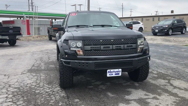 2011 Black Ford F-150 SVT Raptor Automatic 6.2L EFI V8 Engine Truck
