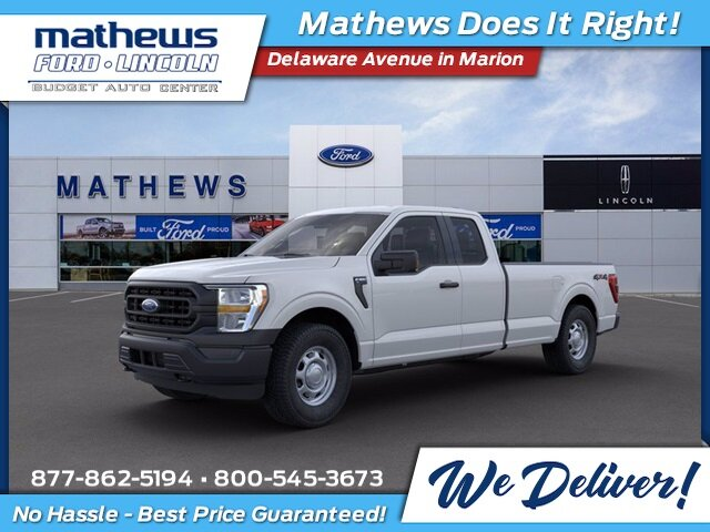 2021 Ford F-150 XL EcoBoost 3.5L V6 GTDi DOHC 24V Twin Turbocharged Engine 4 Door 4X4 Automatic Truck