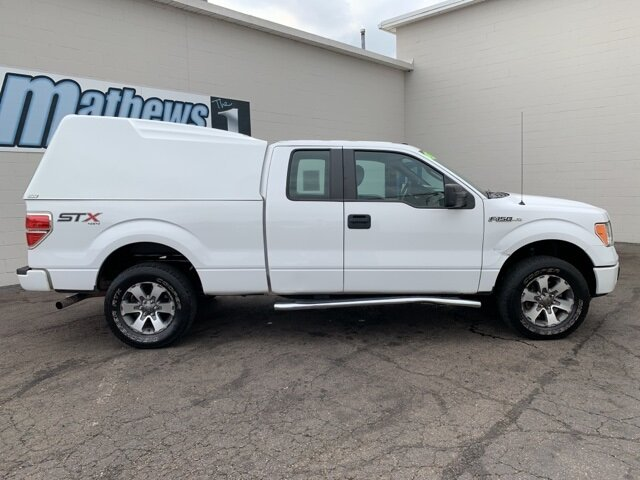 "2014 White Ford F-150 4WD SuperCab 145"" STX 4X4 Truck Automatic"
