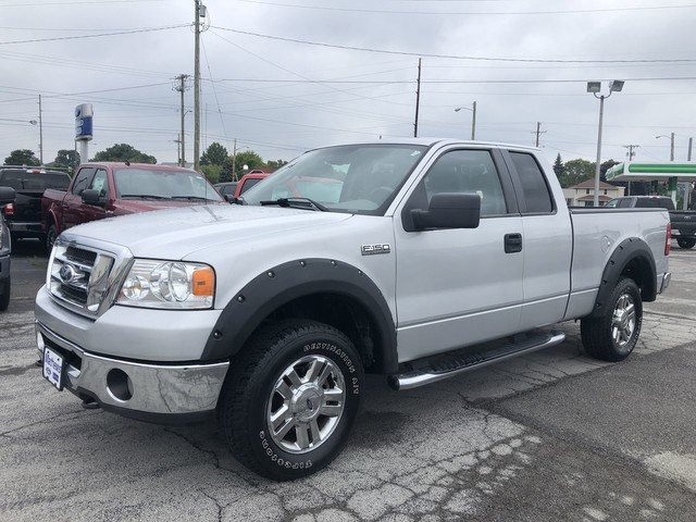 2007 Silver Metallic Ford F-150 XLT Automatic 2 Door 4X4 Truck 5.4L 24-Valve EFI FFV V8 Engine