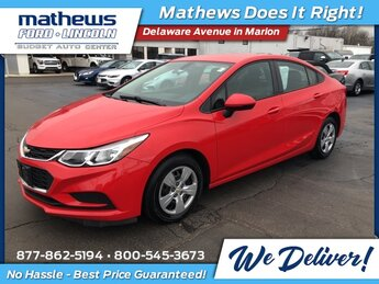 2016 Red Hot Chevrolet Cruze LS FWD Automatic 1.4L 4-Cylinder Turbo DOHC CVVT Engine Car
