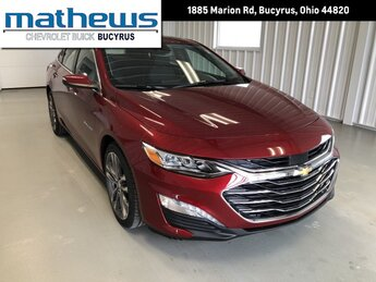2021 Cherry Red Tintcoat Chevrolet Malibu Premier 2.0L Turbo DOHC 4-Cyl SIDI Engine 4 Door Car FWD