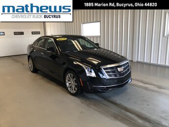 2017 Black Raven Cadillac ATS Sedan Luxury AWD Car AWD 4 Door 2.0L Turbo I4 DI DOHC VVT Engine Automatic