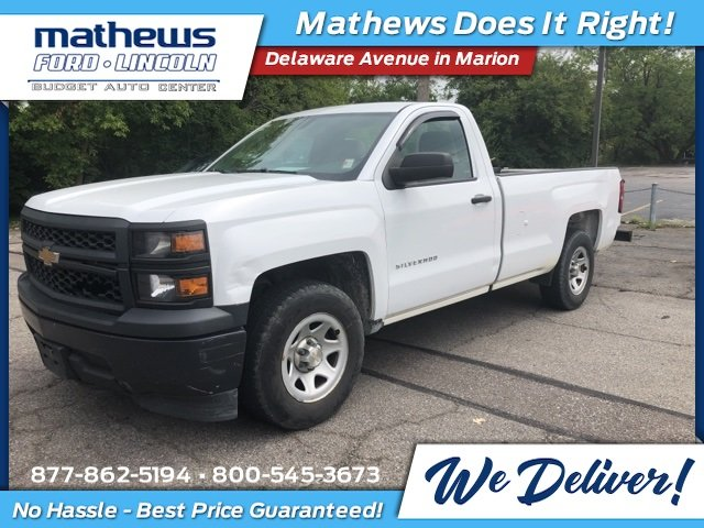 2014 Chevrolet Silverado 1500 Work Truck 2 Door Truck RWD EcoTec3 5.3L V8 Flex Fuel Engine Automatic