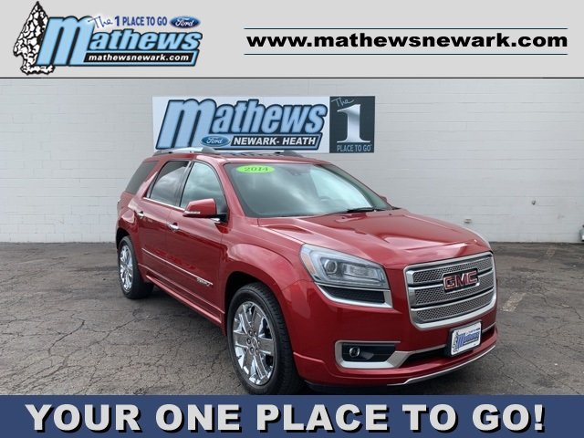 2014 Crystal Red Tintcoat GMC Acadia Denali Automatic SUV 3.6L 6-Cylinder Engine AWD