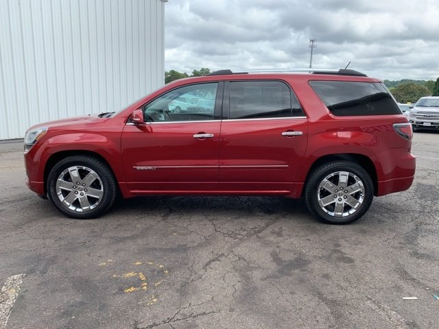 2014 Crystal Red Tintcoat GMC Acadia Denali 3.6L 6-Cylinder Engine 4 Door SUV Automatic