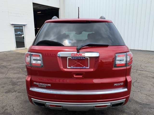 2014 Crystal Red Tintcoat GMC Acadia Denali SUV Automatic 4 Door 3.6L 6-Cylinder Engine