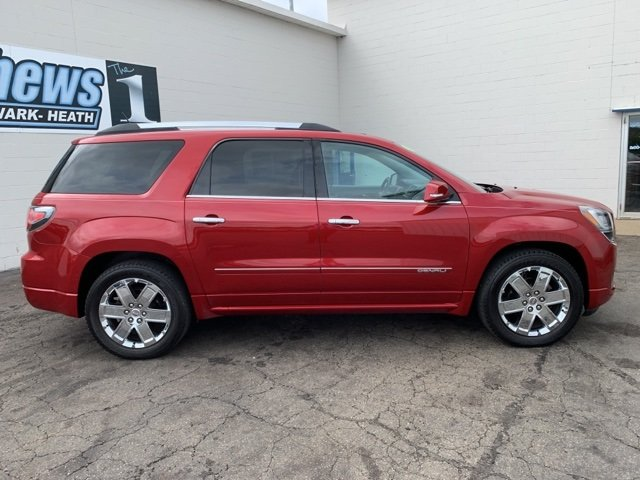2014 Crystal Red Tintcoat GMC Acadia Denali 4 Door 3.6L 6-Cylinder Engine Automatic SUV AWD