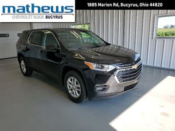 2020 Mosaic Black Metallic Chevrolet Traverse LS 3.6L V6 SIDI VVT Engine FWD 4 Door