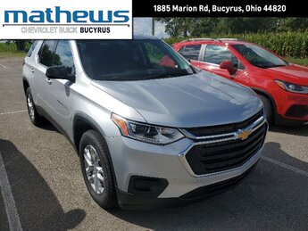2020 Silver Ice Metallic Chevrolet Traverse LS 3.6L V6 SIDI VVT Engine SUV 4 Door FWD Automatic