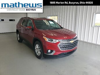 2020 Cajun Red Tintcoat Chevrolet Traverse LT Cloth AWD 3.6L V6 SIDI VVT Engine 4 Door