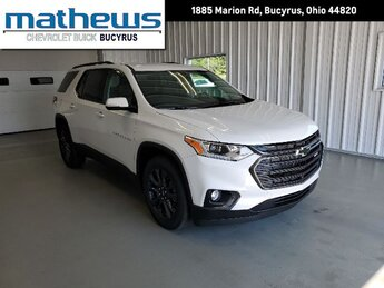 2020 Iridescent Pearl Tricoat Chevrolet Traverse RS Automatic 4 Door 3.6L V6 SIDI VVT Engine AWD SUV
