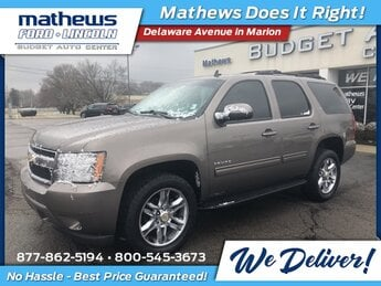 2013 Mocha Steel Metallic Chevrolet Tahoe LT SUV 4X4 Automatic Vortec 5.3L V8 SFI Flex Fuel Iron Block Engine 4 Door