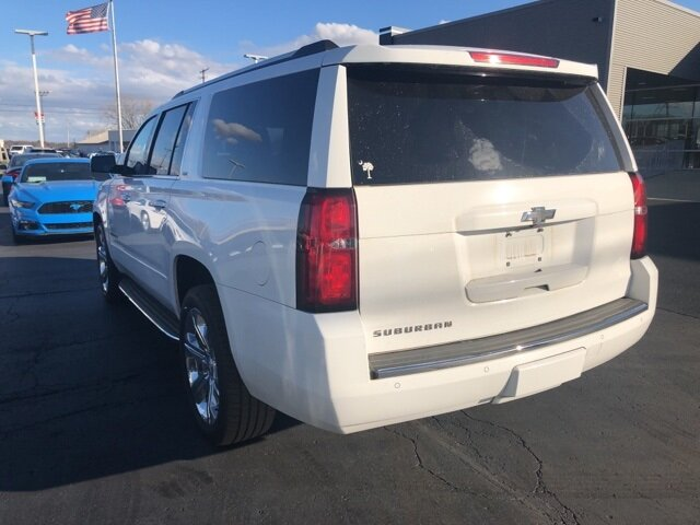 2016 Summit White Chevrolet Suburban 1500 LTZ Automatic 4 Door V8 Engine