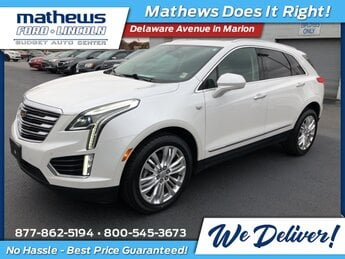 2017 Crystal White Tricoat Cadillac XT5 Premium Luxury AWD AWD 3.6L V6 DI VVT Engine 4 Door