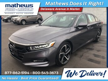 2018 Honda Accord Sport 1.5T Automatic (CVT) 4 Door FWD 1.5T I4 DOHC 16V Turbocharged VTEC Engine Car