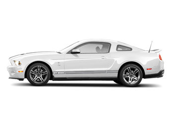 2010 Performance White Ford Mustang GT500 Coupe 2 Door 5.4L 32-Valve DOHC Supercharged & Intercooled V8 Engine RWD Manual