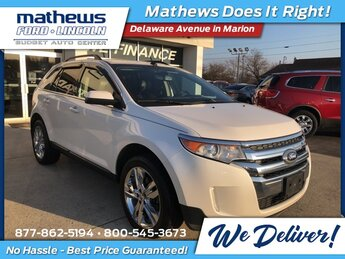 2013 White Platinum Tri-Coat Metallic Ford Edge Limited 3.5L V6 Ti-VCT Engine 4 Door AWD SUV