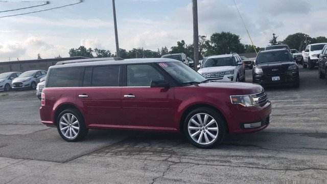2016 Ruby Red Metallic Tinted Clearcoat Ford Flex SEL SUV 3.5L V6 Cylinder Engine 4 Door