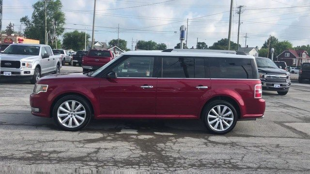 2016 Ruby Red Metallic Tinted Clearcoat Ford Flex SEL 3.5L V6 Cylinder Engine Automatic FWD 4 Door SUV
