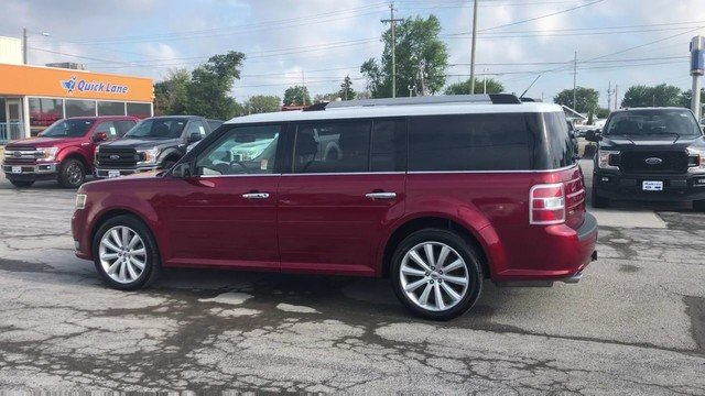 2016 Ruby Red Metallic Tinted Clearcoat Ford Flex SEL 3.5L V6 Cylinder Engine Automatic SUV