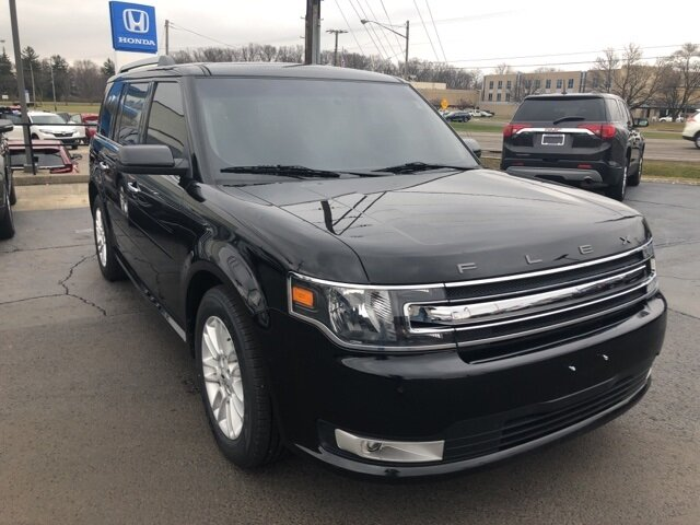 2019 Agate Black Ford Flex SEL AWD SUV 3.5L V6 Ti-VCT Engine 4 Door