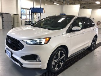2019 White Platinum Metallic Tri-Coat Ford Edge ST SUV 4 Door AWD Automatic