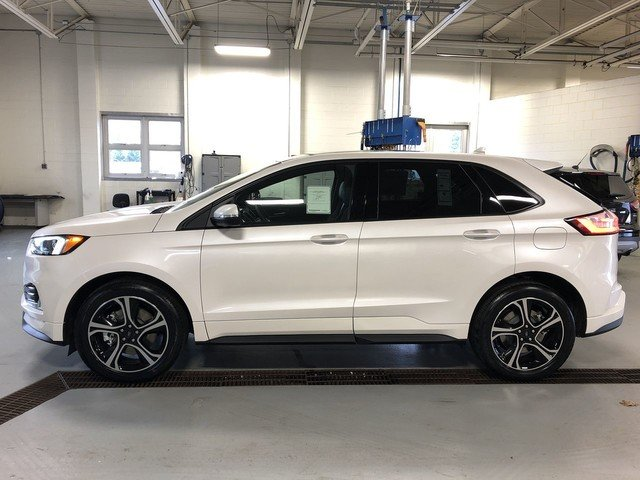 2019 White Platinum Metallic Tri-Coat Ford Edge ST AWD Automatic 4 Door