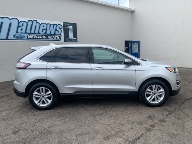2017 Ingot Silver Metallic Ford Edge SEL 2.0 L 4-Cylinder Engine SUV AWD