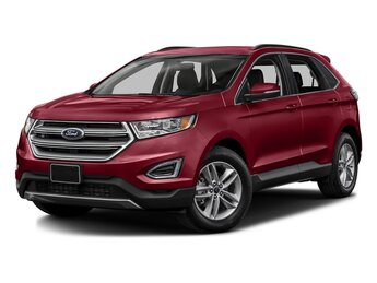 2017 Ruby Red Metallic Tinted Clearcoat Ford Edge SEL 2.0 L 4-Cylinder Engine 4 Door SUV