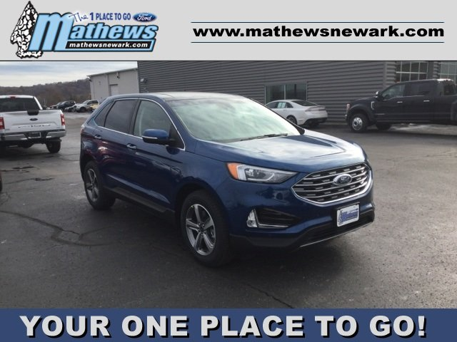 2020 Atlas Blue Metallic Ford Edge Titanium Automatic SUV 2.0L 4-Cylinder Engine AWD 4 Door
