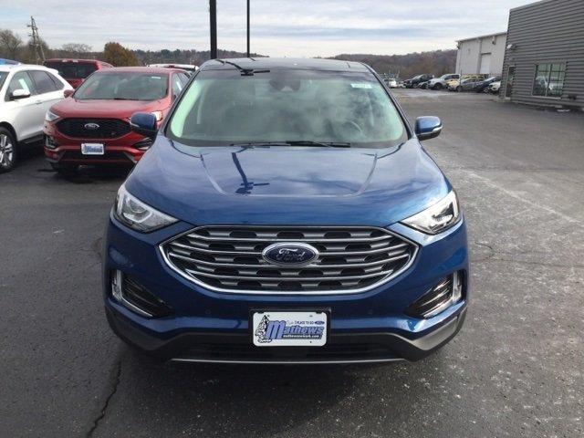 2020 Atlas Blue Metallic Ford Edge Titanium 2.0L 4-Cylinder Engine SUV AWD Automatic