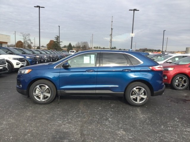 2020 Atlas Blue Metallic Ford Edge Titanium Automatic SUV AWD
