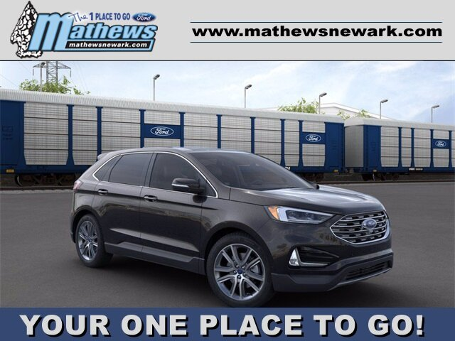2020 Agate Black Ford Edge Titanium 4 Door Automatic AWD 2.0 L 4-Cylinder Engine