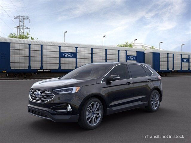 2020 Agate Black Ford Edge Titanium 2.0 L 4-Cylinder Engine SUV AWD 4 Door Automatic