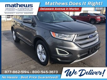 2015 Magnetic Metallic Ford Edge SEL SUV 4 Door EcoBoost 2.0L I4 GTDi DOHC Turbocharged VCT Engine