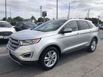 2015 Ingot Silver Metallic Ford Edge SEL AWD SUV 2.0L I4 Ecoboost Engine