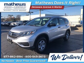2016 Alabaster Silver Metallic Honda CR-V LX Automatic (CVT) 4 Door SUV