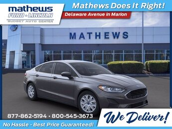 2020 Magnetic Metallic Ford Fusion S Car 2.5 L 4-Cylinder Engine 4 Door Automatic