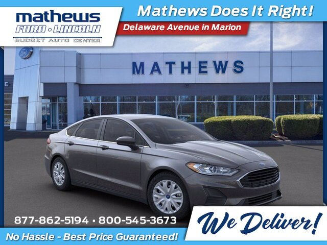 2020 Magnetic Metallic Ford Fusion S 2.5 L 4-Cylinder Engine Automatic Sedan 4 Door FWD