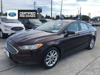 2017 Burgundy Velvet Metallic Tinted Ford Fusion SE 4 Door Car 2.5L IVCT Engine